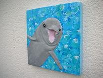 Meer, Hartschaumbildträger, Delfin, Kunsthandwerk