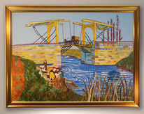 Vincent van gogh, Gelb, Blau, Malerei