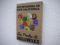 Kaffeesack, Holzbildhauerei, Mexiko, Kunsthandwerk