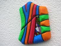 Weiß, Orange, Styroporbildträger, Blau