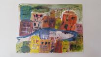Italien, Malerei, Acrylmalerei, Landschaft
