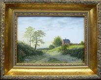 Landschaft, Romantik, Gegenständlich, Feinmalerei