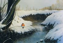 Schnee, Naturalismus, Landschaft, Bach