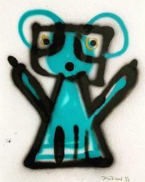Sprühen, Charakter, Graffiti, Malerei