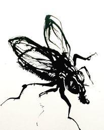 Fliege, Fliegen, Malerei