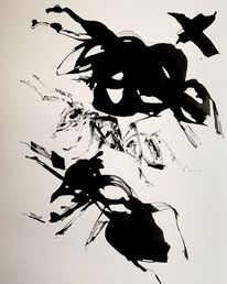 Schwarz, Tusche, Malerei