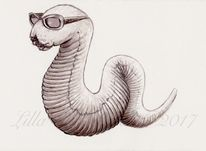 Fantasie, Illustration, Wurm, Zeichnung