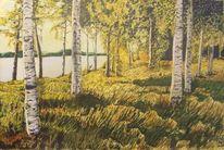 Natur, Gras, Landschaftsmalerei, Grün