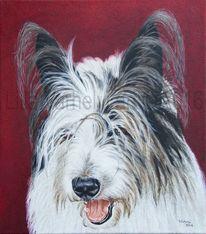Hund, Ölmalerei, Realismus, Tierportrait