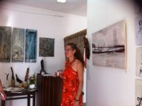 Opening in budens, Galary art events, Frau, Frei