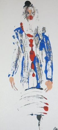 Clown, Malerei, Abstrakt, Figural