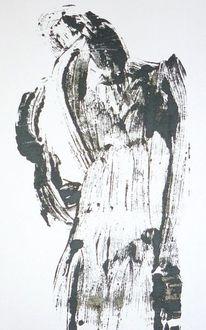 Engel, Malerei, Abstrakt, Figural