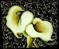 Modern, Kunstwerk, Blumen, Malerei