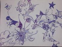 Stern, Fantasie, Kugelschreiber, Pflanzen