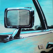 Spiegel, Amerika, Acrylmalerei, Auto
