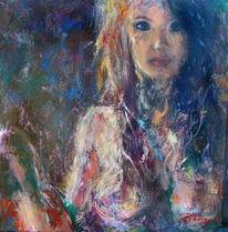 Zuversicht, Frau, Seitenlicht, Expressionismus
