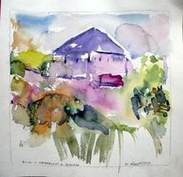 Divo, Schloss mattsee, Aquarellmalerei, Akademie