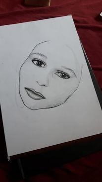 Zeichnung, Bleistiftzeichnung, Malerei, Portrait