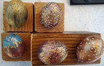 Ostereier, Struktur, Acrylmalerei, Fantasie