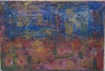 Acrylmalerei, Landschaft, Nacht, Bunt