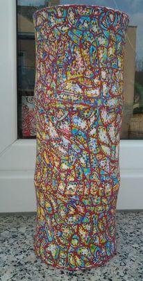 Acrylmalerei, Vase, Feine malerei, Bunt