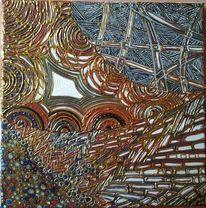 Fantasie, Struktur, Acrylmalerei, Aquarell