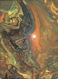 Acrylmalerei, Fliesstechnik, Malerei,