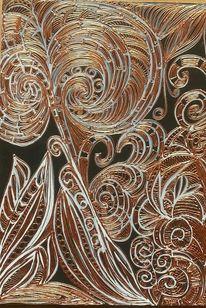 Acrylmalerei, Gold, Fantasie, Malerei