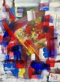 Fensterblick, Farben, Augen, Malerei