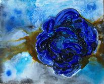 Rose, Blau, Abstrakt, Malerei