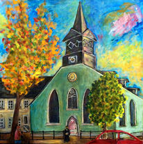 Pfarrer, Hospitalkirche, Malerei, 2014