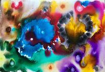 Feuerwerk, Rot, Lila, Blau