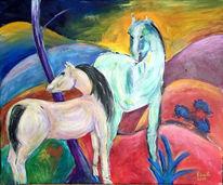 Pferde, Malerei, Studie