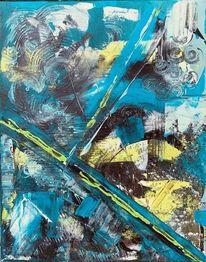 Struktur, Spachteltechnik, Wind, Malerei