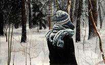 Realismus, Figur, Landschaft, Wald
