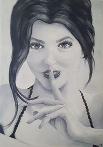 Schwarz weiß, Realismus, Augen, Grau