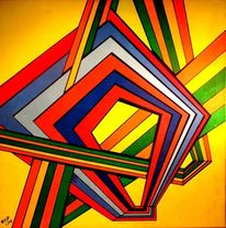 Grafik, 2014, Acrylmalerei, Malerei