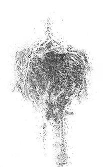 Mann, Gegenlicht, Silber, Digitale kunst