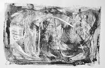 Spachteltechnik, Grau, Acrylmalerei, Abstrakt