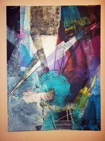 Acrylmalerei, Lila, Linie, Violett