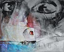 Menschen, Blick, Digitale kunst, Augen