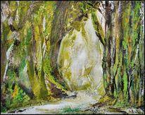 Wald, Baum, Natur, Malerei