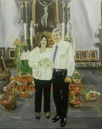 Kirche hochzeit, Malerei, Portrait