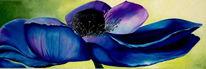 Anemonen, Ölmalerei, Querformat, Malerei