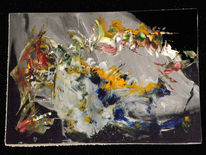 Malerei, Abstrakt, Ecke