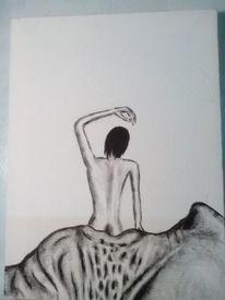 Schwarzweiß, Mund, Surreal, Malerei