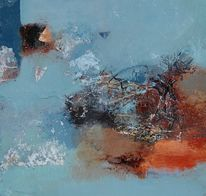 Mischtechnik, Acrylmalerei, Abstrakt, Malerei