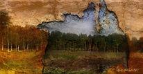 Struktur, Durchbrechen, Textur, Landschaft