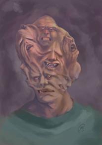 Gesicht, Krank, Stimme, Hölle