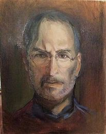 Steve jobs, Ölmalerei, Malerei,